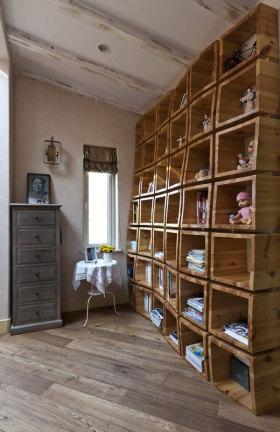 原木美式个性创意收纳柜设计展示