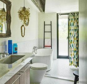 混搭风格绿色卫生间装修图片