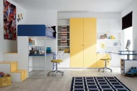 黄色活泼地中海风格儿童房效果图