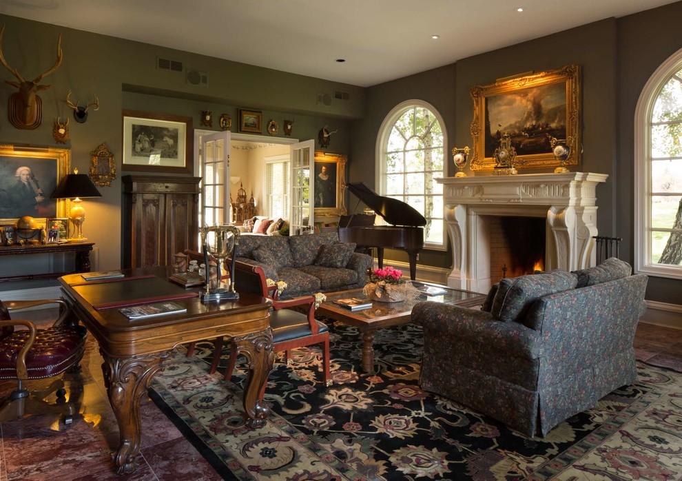 欧式风格轻奢灰色客厅装潢设计图片