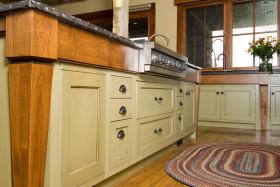 欧式风格橙色个性厨房橱柜装饰设计