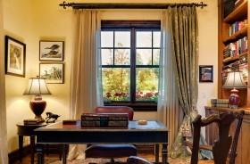黄色雅致华丽欧式书房设计