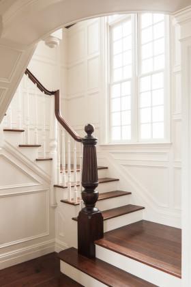 简欧风格白色楼梯装修设计
