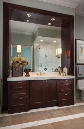 清爽雅致欧式风格浴室柜欣赏