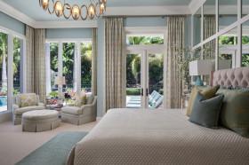 灰色欧式风格卧室飘窗装饰案例