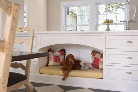 白色简约客厅橱柜设计欣赏