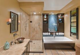 东南亚风格个性橙色卫生间装修效果图片