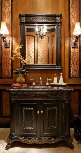 欧式精美华丽复古玄关装饰设计图片