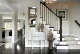 禅韵雅致灰色现代风格玄关装修设计