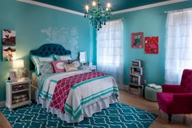 蓝色地中海风格儿童房装修案例
