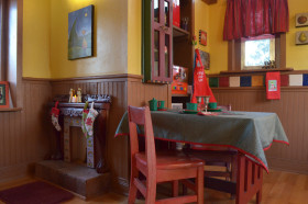 美式红色个性儿童房装修案例2016