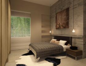 原木色现代风格卧室装修图片欣赏