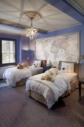 温馨紫色地中海风格儿童房装潢案例