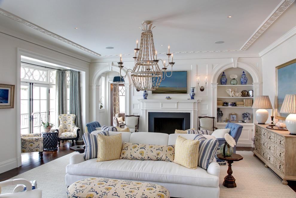 欧式风格清新灰色客厅装修欣赏