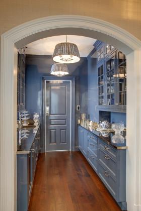 欧式蓝色浪漫玄关设计装潢