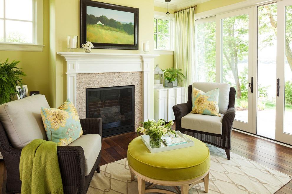 绿色清新欧式风格客厅设计装潢