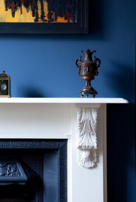 蓝色精致时尚欧式风格客厅装饰品设计欣赏
