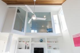灰色简约风格客厅吊顶设计装潢