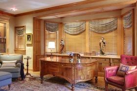 大气美式风格橙色书房设计案例