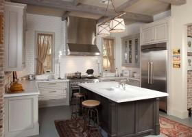田园风格厨房橱柜效果图设计