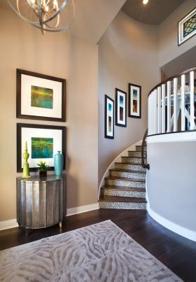 雅致简欧大气时尚风格楼梯设计图