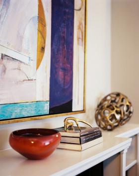 地中海风格白色精致客厅装饰品设计装潢