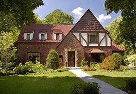 绿色美式房屋外立面设计案例