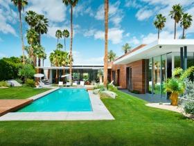 简约绿色别墅游泳池设计美图