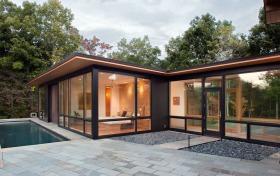 现代简约风格别墅外立面设计图片