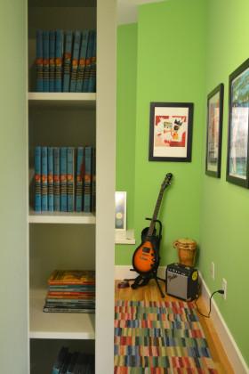 绿色美式风格书房效果图赏析