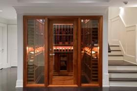 中式风格简洁酒柜装修效果图设计