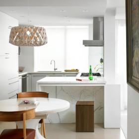 白色精美雅致简约厨房效果图欣赏