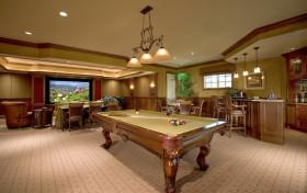 质朴欧式风格台球室休闲区装修效果图