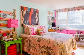 东南亚风格蓝色清新儿童房设计图片