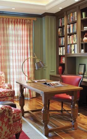 雅致时尚欧式风格书房设计图