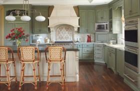 欧式风格休闲厨房橱柜装潢案例