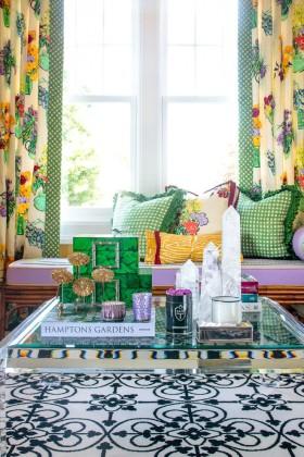 文艺东南亚风格客厅飘窗效果图设计