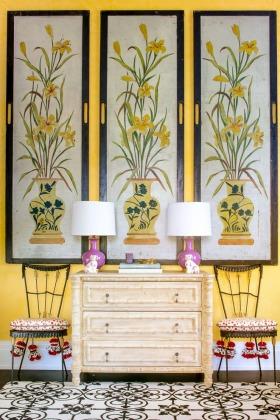 东南亚风格黄色客厅设计案例