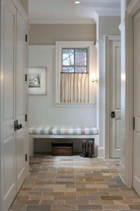 白色清爽优雅欧式玄关装潢设计