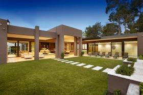 清新现代简约风格花园装修设计图