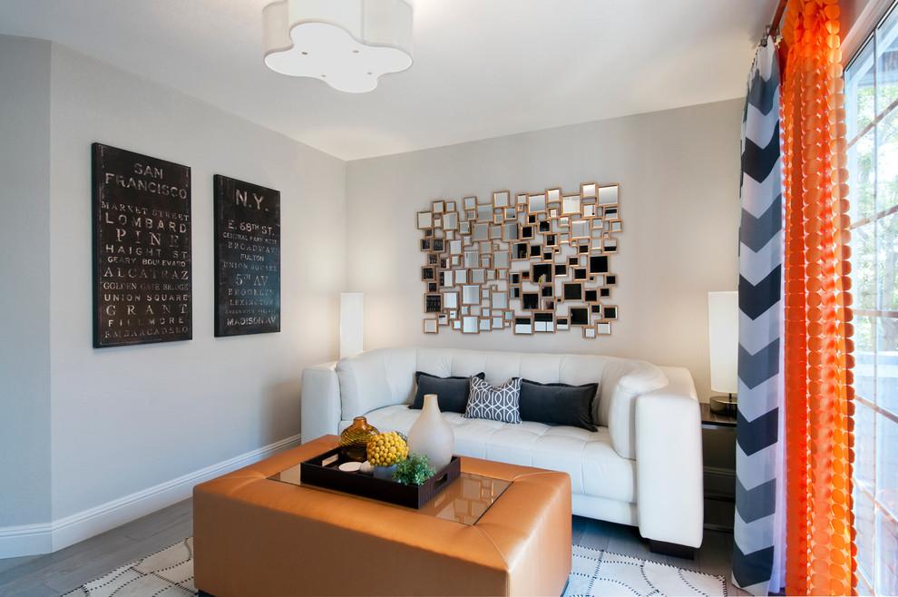 白色个性现代风格客厅装修赏析