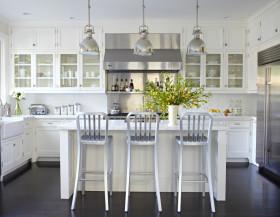 灰色田园风格厨房橱柜装修图