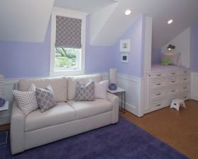 田园粉蓝唯美阁楼休闲沙发装修图片