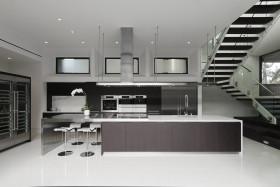 简约灰色厨房橱柜效果图