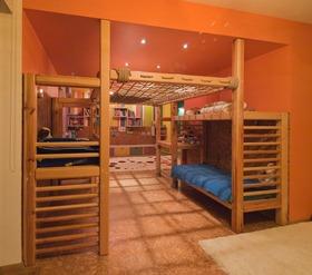 田园橙色儿童房装修