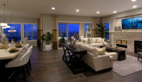 低奢简欧风格客厅设计装潢