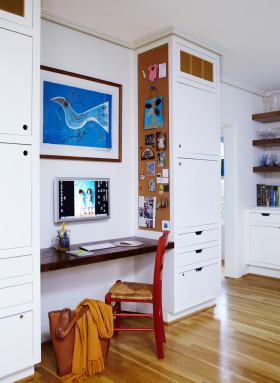 白色温馨宜家风格书房装修美图