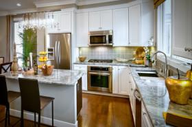 黄色混搭风格厨房设计图