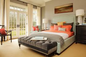 彩色时尚欧式风格卧室装潢设计