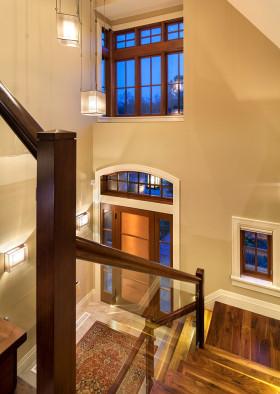 橙色雅致简约风格楼梯图片赏析